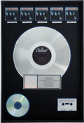 Music Memorabilia:Awards, Meet the Beatles! RIAA Multi-Platinum Album Award....