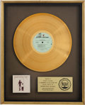 Music Memorabilia:Awards, Fleetwood Mac RIAA Gold Album Award....