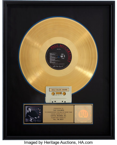 Music MemorabiliaAwards Beatles Related