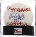 Autographs:Baseballs, Bob Feller Single Signed Baseball PSA Mint+ 9.5....