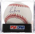 Autographs:Baseballs, Greg Maddux Single Signed Baseball PSA Mint 9....