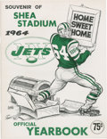 Autographs:Baseballs, 1964 New York Jets Official Yearbook....