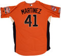 Baseball Collectibles:Uniforms, 2007 Victor Martinez Signed All-Star Practice Jersey....