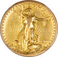 High Relief Double Eagles, 1907 $20 High Relief, Flat Rim--Edge Damage, Improperly Cleaned--NCS. XF Details....