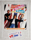 Music Memorabilia:Tickets, The Who 1989 Tommy Satellite TV Screening Ticket....