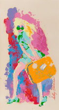 Pin-up and Glamour Art, LEROY NEIMAN (American, b. 1926). Traveling Girl. LithographProof. 17 x 10 in.. Signed lower right. ...