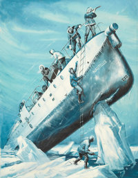 BRUCE MINNEY (American, b. 1928) Voyage to the Forgotten World of Ice, men's magazine illustration G