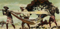 Mainstream Illustration, CLARK FAY (American, 1894-1955). In the Hammock. Oil onboard. 21 x 41.5 in.. Signed lower right. ...