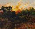 Texas, A. D. GREER (American, 1904-1998). Sunset Landscape. Oil oncanvas. 20 x 24 inches (50.8 x 61.0 cm). Signed lower right:...