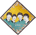 Music Memorabilia:Memorabilia, Beatles-Themed Silk Handkerchief - Green and Gold (1964). ...