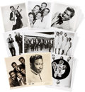 Music Memorabilia:Photos, Assorted Vintage 1950s R&B Publicity Photos.... (Total: 70 )