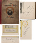 Movie/TV Memorabilia:Autographs and Signed Items, The American Stage of Today Actor-Signed Book with 1907Opera Program.... (Total: 2 )