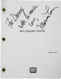 Movie/TV Memorabilia:Autographs and Signed Items, Marisa Tomei Autographed My Cousin Vinny Screenplay....