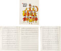 Music Memorabilia:Sheet Music, Who Related - John Entwistle Handwritten Music Book (c. 1978)....