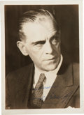 Movie/TV Memorabilia:Autographs and Signed Items, Boris Karloff Signed Photo....