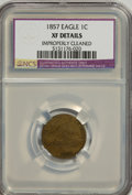 1857 1C --Improperly Cleaned--NCS. XF Details. NGC Census: (5/98). PCGS Population (73/2698). Mintage: 17,450,000. Numis...