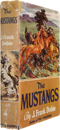 Books:First Editions, J. Frank Dobie. The Mustangs. Boston: Little, Brown andCompany, 1952. First trade edition. 8vo. 376pp. Colored fron...