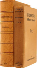 Books:First Editions, Sallie Reynolds Matthews. Interwoven, a Pioneer Chronicle.Houston: The Anson Jones Press, 1936. First edition....