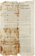 "Autographs:Statesmen, Broadside: Second Texian Loan. William Christy Document Signed. Twoprinted pages (front and back of one 10.5"" x 16.5"" sheet..."