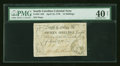 Colonial Notes:South Carolina, South Carolina April 10, 1778 15s PMG Extremely Fine 40 Net....