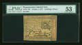 Colonial Notes:Pennsylvania, Pennsylvania October 1, 1773 2s/6d PMG About Uncirculated 53....