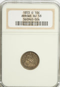 Seated Dimes, 1853-O 10C Arrows AU58 NGC....
