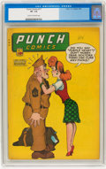 Golden Age (1938-1955):Crime, Punch Comics #17 (Chesler, 1946) CGC VF- 7.5 Cream to off-white pages....