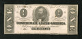 Confederate Notes:1863 Issues, T62 $1 1863. This is an unusual note as it has neither been signednor dated. A few small rust spots are noticed along with ...