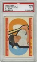 Baseball Cards:Singles (1960-1969), 1960 Topps Mickey Mantle All-Star #563 PSA NM 7. Her we present anAll-Star card from the Yankee Hall of Famer. Strong cent...