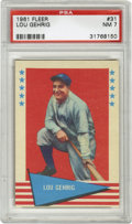 Baseball Cards:Singles (1960-1969), 1961 Fleer Lou Gehrig #31 PSA NM 7. The great Lou Gehrig ishighlighted on this high-grade card from Fleer's '61 set with l...