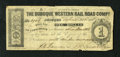 Obsoletes By State:Iowa, Dubuque, IA- Dubuque Western Rail Road Compy. $1 Apr. 22, 1858. Ithas been two years since we last had a $1 note on this is...