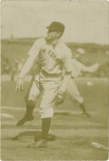 "Baseball Collectibles:Photos, 1909 Christy Mathewson Wire Photograph by Thompson. Though small instature (photo measures 2.75x4""), this fine sepia image..."