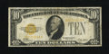 Small Size:Gold Certificates, Fr. 2400 $10 1928 Gold Certificate. Fine.. This $10 Gold has original paper surfaces....