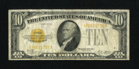 Fr. 2400 $10 1928 Gold Certificate. Fine. Original paper surfaces dominate this $10 Gold that has a nice overprint. A sm...