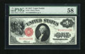 Fr. 37 $1 1917 Legal Tender PMG Choice About Uncirculated 58. This note does not show the minute handling through its PM...