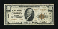 San Francisco, CA - $10 1929 Ty. 2 The Anglo California NB Ch. # 9174 This $10 shows even wear. Fine