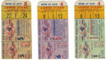 Baseball Collectibles:Tickets, 1952-53 World Series Ticket Stubs from Yankee Stadium Lot of 3.Fine trio of Fall Classic stubs from the hallowed Yankee St...