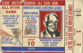 Baseball Collectibles:Tickets, 1956 All-Star Game Ticket Stub. Colorful stub from the 1956All-Star game played in Washington D.C.'s Griffith Stadium. Th...