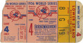 Baseball Collectibles:Tickets, 1956 World Series Game 4 Ticket Stub. Great example of a YankeeStadium ticket stub from Game 4 of the 1956 World Series, a...