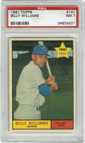Baseball Cards:Singles (1960-1969), 1961 Topps Billy Williams #141 PSA NM 7. Sweet Swingin' BillyWilliams' entry in the '61 Topps issue rates a respectable PS...