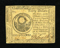 Colonial Notes:Continental Congress Issues, Continental Currency July 22, 1776 $30 Very Fine....