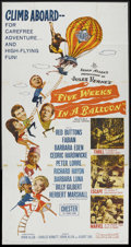 "Movie Posters:Adventure, Five Weeks in a Balloon (20th Century Fox, 1962). One Sheet (27"" X41""). Adventure. Starring Red Buttons, Fabian, Barbara Ed..."