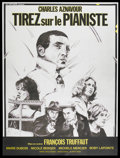 """Movie Posters:Crime, Shoot the Piano Player (Cocinor, 1960). French Grande (47"""" X 63"""").Crime. Starring Charles Aznavour , Marie Dubois, Nicole B..."""