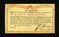 Colonial Notes:New York, New York August 2, 1775 (Water Works) 8s Gem New....