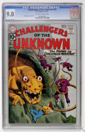 Silver Age (1956-1969):Science Fiction, Challengers of the Unknown #22 (DC, 1961) CGC VF/NM 9.0 Off-whiteto white pages....