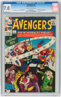 Silver Age (1956-1969):Superhero, The Avengers #7 (Marvel, 1964) CGC FN/VF 7.0 Off-white to white pages....