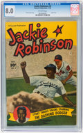 Golden Age (1938-1955):Miscellaneous, Jackie Robinson #4 (Fawcett, 1950) CGC VF 8.0 Off-white pages....