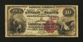 National Bank Notes:Wisconsin, Milwaukee, WI - $10 1882 Brown Back Fr. 480 The Milwaukee NB of Wisconsin Ch. # 1017. ...