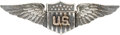 Military & Patriotic:WWI, World War I: United States Army Air Service Sterling Silver Pilot Wing....