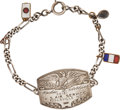 Military & Patriotic:WWI, World War I: United States Army Air Service Silver PilotIdentification Bracelet....